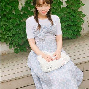 STYLENANDA floral bandeau top & skirt set